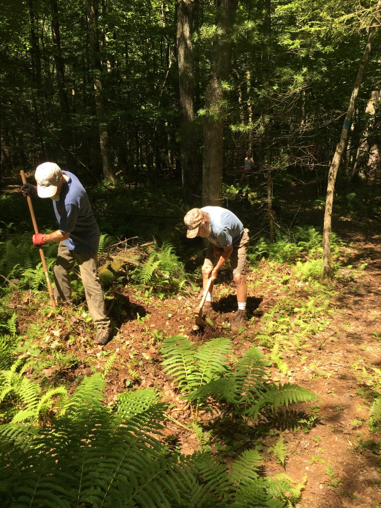Photo of people working at Schiffman Woods